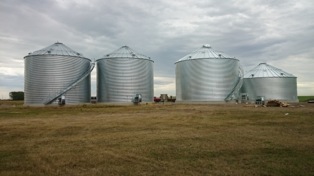 New bins helped us reduce the excessive amount of grain bags needed for storage.