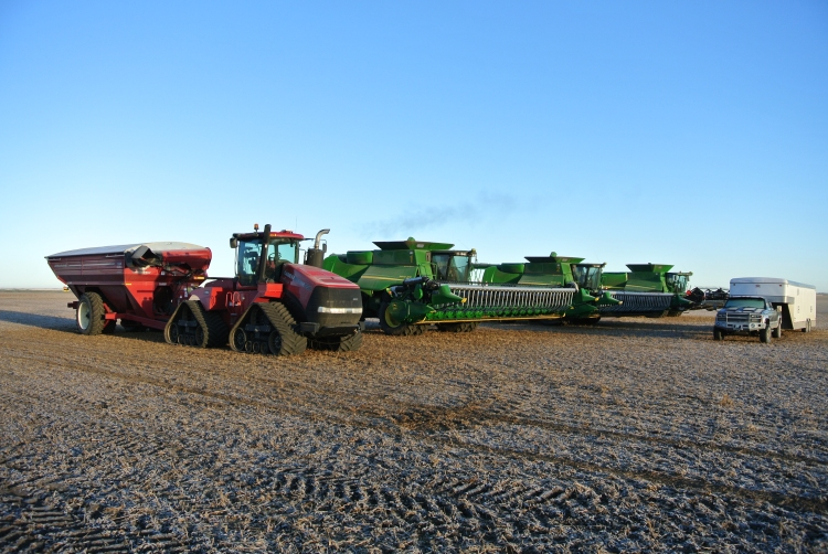 A frosty morning reminded us that fall had begun - and it was time to be finished harvest.