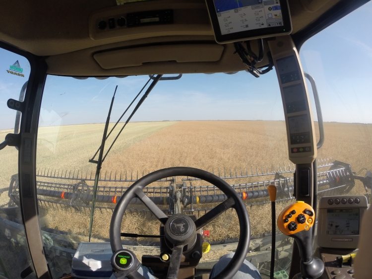 There were more than a few firsts this year: one was straight-cutting canola, and another was this awesome new GoPro camera (thanks Syngenta)!